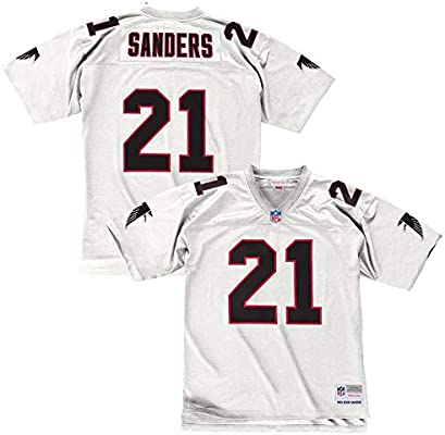 finest selection 9b94f bbc3d Mitchell & Ness Deion Sanders 1992 Atlanta Falcons Road White Legacy Jersey  Men