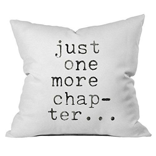 Just Chapter Throw Pillow Cover