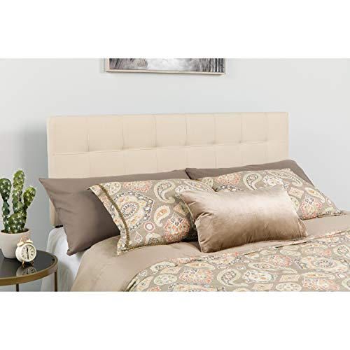 Flash Furniture Bedford Tufted Upholstered Queen Size Headboard in Beige Fabric - (Tufted Headboard Buy)