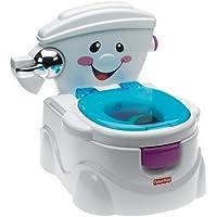 Fisher-Price P4326 Meine erste Toilette Töpfchen und Toilettensitz mit Musik und Soundeffekten Toilettentrainer für Kleinkinder