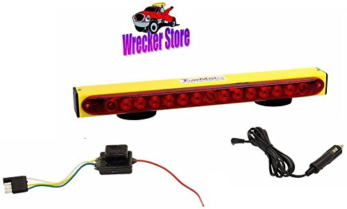 BA Products New! Towmate Yellow Sun Light TM22Y-4F, TM22Y 4 Pin Flat Transmitter, 22'' Wireless Tow Light with LED Stop, Tail, Turn, Sunllight by BA Products