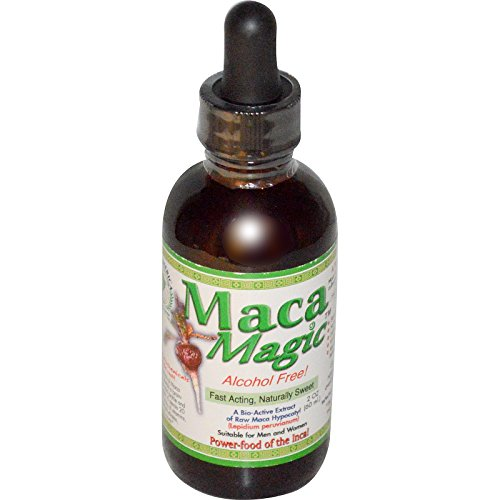 Maca Magic, A Bio-Active Extract of Raw Maca Hypocotyl, Alcohol Free, 2 oz (60 ml) - 3PC