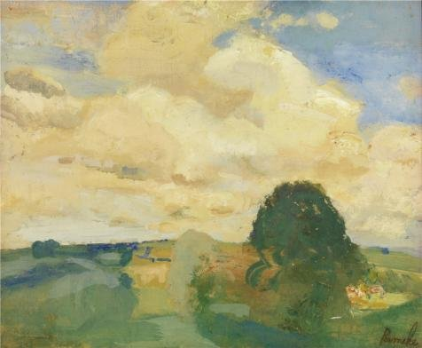 Oil Painting 'Landscape In Devonshire By Constant Permeke', 8 x 10 inch / 20 x 25 cm , on High Definition HD canvas prints is for Gifts And Bar, Game - India In Cheapest Sunglasses