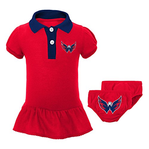 "NHL Washington Capitals Newborn & Infant ""Little Prep"" Polo & Diaper Cover Set, 24 Months, Red"