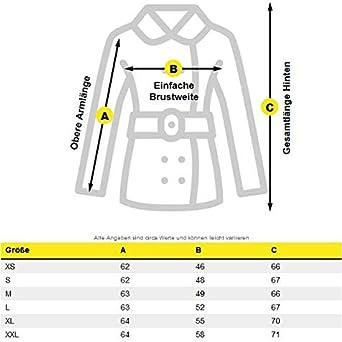 Navahoo warme Damen Designer Winter Jacke Winterjacke mit Kapuze und Teddyfell B643