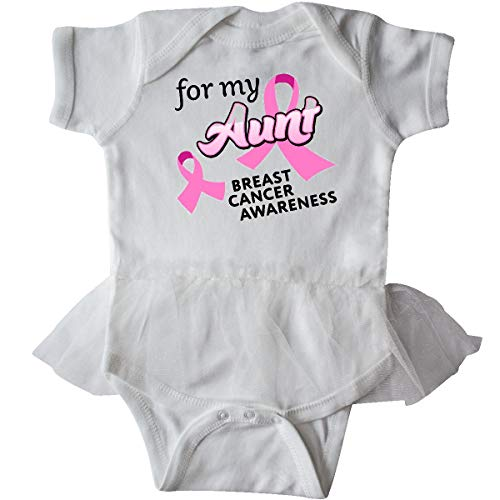 inktastic - for My Aunt - Breast Infant Tutu Bodysuit 6 Months White ()