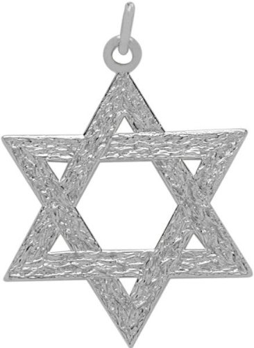 Genuine Sterling Silver Medium Detailed Star of David Pendant with chain - 22