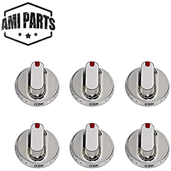 DG64-00347A DG64-00347B Dial Knob Upgraded Burner Knob Replacement Part by AMI PARTS - Compatible with Samsung Range Oven Gas Stove Knob - Replaces DG64-00472A DG64-00473A - 6 Packs