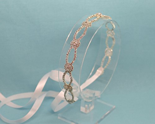 Round Infinite Love Silver Tone Wedding Headband by The Ivory Willow