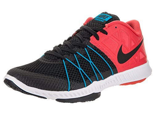 Nike Men's Zoom Train Incredibly Fast Cross Training Shoes (9.5 D(M) US, Action Red/Black/Blue Glow/White) For Sale