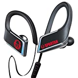 Panasonic WINGS Wireless Bluetooth In Ear Earbuds Sport Headphones with Mic + Controller and Flashing LED's RP-BTS50P1-K (Jet Black), IPX5 Water Resistant, Spartan Limited Edition