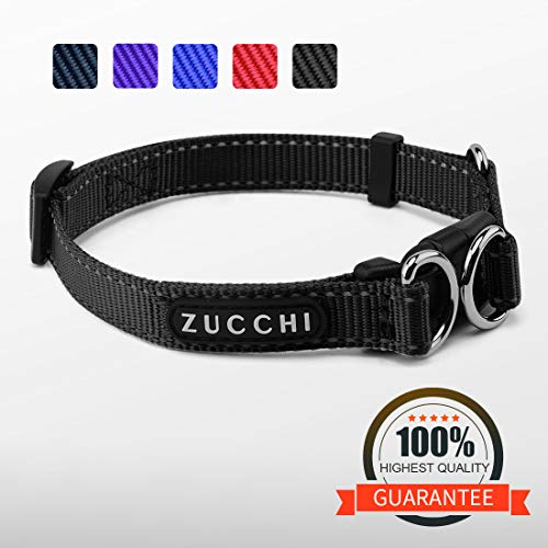 ZUCCHI Small Dog Collar, Reflective and Comfy, Neck 12-16