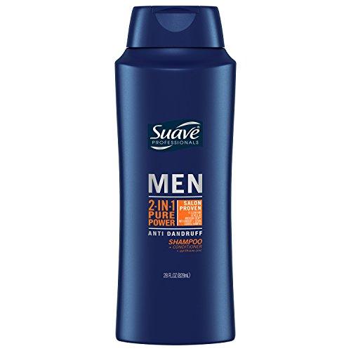 Suave Men Anti Dandruff 2 in 1 Shampoo & Conditioner, Pure Power, 28 oz