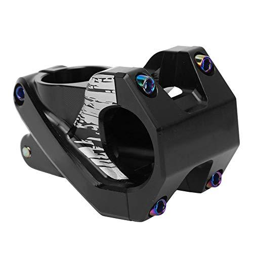 Bike Handlebar Stem 31.8mm Aluminium Alloy Hollow Handlebar Stem Cycling Mountain Bike Handlebar Riser(Black)