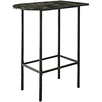 Amazon cappuccino marble 24x36 inch spacesaver bar table monarch specialties grey marble and charcoal metal 24 inch by 36 inch spacesaver bar watchthetrailerfo