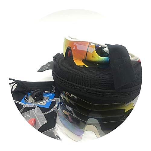 Two tigers (5 Lens) Cycling Sunglasses Polarized Bike ()