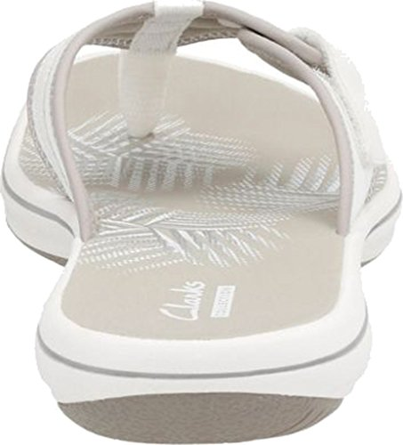 Clarks Womens Wind Mila White Synthetic