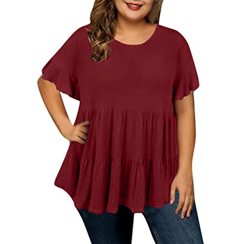 Mebamook Women Summer Shirts for Women Vneck Shirts for Women Workout Shirts for Women Red