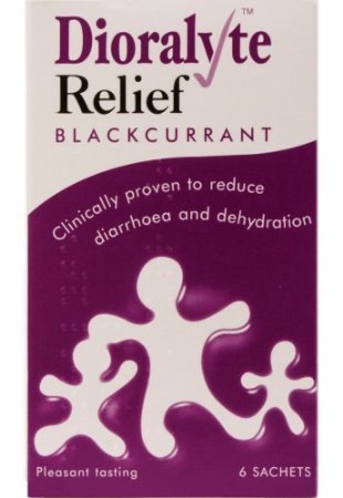 - Fixbub Dioralyte Relief Oral Dehydration Therapy Sugar-Free Sachets - Blackcurrant Flavour - 6 Sachets