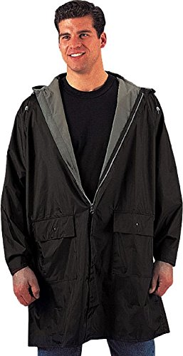 - Reversible 3/4 Length Rain Parka Waterproof Rain Coat