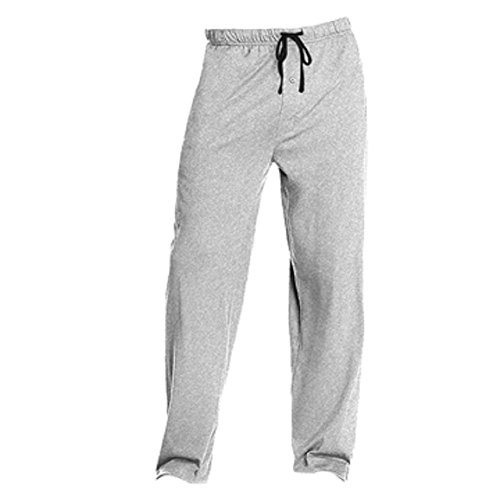 Hanes Men's Solid Knit Pant (X-Large, Grey/Black) (Knit Solid Fashion)