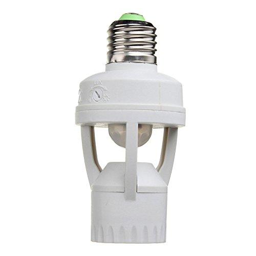 Price comparison product image Quickbuying AC 220V 360 Degrees 60W PIR Induction Motion Sensor IR infrared Human E27 Plug Socket Switch Base Led Bulb light Lamp Holder New