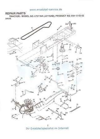 JONSERED TRANSMISSON drive belt lt13 lt14 lt15 lt16 lt17 lt18 lt19 lt2114 140294
