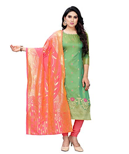 Being Banarasi women's jacquard silk dress material