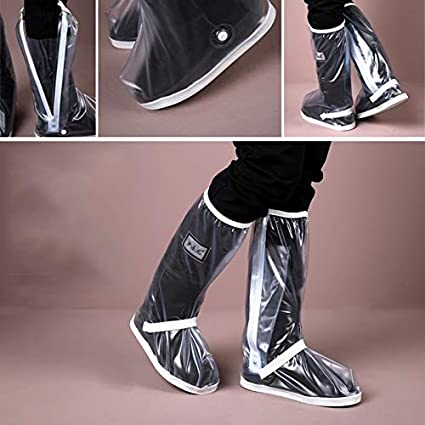 HMMSP Rain Boots High Shoe Cover Over The Knee Shoe Cover Outdoor Rainy Day Shoe Cover Sand Dust Shoe Cover Adult Foot Cover Color : Black, Size : S