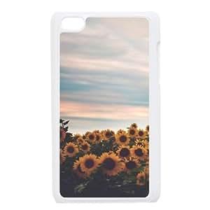 sunflower Design Discount Personalized Hard Case Cover for iPod Touch 4, sunflower iPod Touch 4 Cover Kimberly Kurzendoerfer