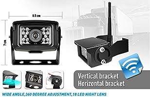 ZEROXCLUB Digital Wireless Backup Camera System Kit No Interference IP69 Waterproof Wireless Rearview Camera 7/'/'Wireless Reversing Monitor for Truck//Semi-Trailer//RV//Box Truck WX04