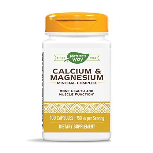 Nature's Way Calcium & Magnesium Mineral Complex, 750 mg per serving, 100 Capsules