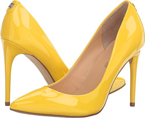 Yellow Patent Leather Pumps - 9