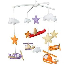Lit de bébé Mobile, Mobile de chambre d'enfant moderne, Cloud Cot Mobile 3