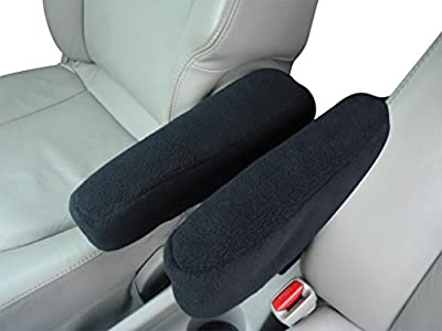 Dodge Grand Caravan 2005-2010 Minivan Auto Armrest Covers - Protect Fold Down Armrest with Fleece Fabric - One PAIR - Large
