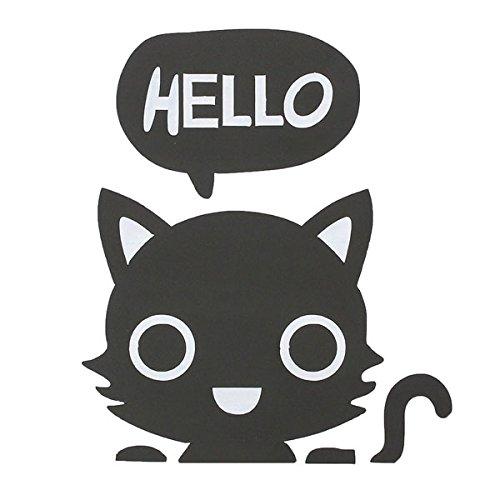 Bluelover Vinyl abnehmbare Funny Cat Schalter Aufkleber schwarz Kunst Abziehbild Home Decor-Katze