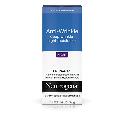 Neutrogena Ageless Intensives Anti Wrinkle Cream with Retinol and Hyaluronic Acid - Night Cream with Shea Butter, Vitamin E, Vitamin A, Glycerin, Hyaluronic Acid, 1.4 oz (Cream Shea Night Butter)