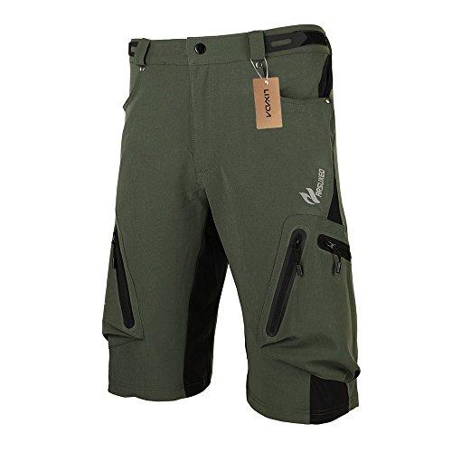 Lixada Baggy Shorts Cycling Bicycle Bike MTB Pants Shorts Breathable Loose Fit Casual Outdoor Cycling Running Clothes Polyamide Lycra with Zippered Pockets