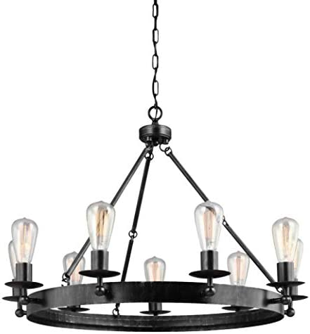 Sea Gull Lighting 3110209-846 Ravenwood Manor Nine-Light Chandelier Hanging Modern Fixture