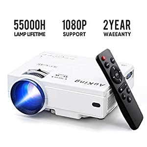 Mini Projector 2020 Upgraded Portable Video-Projector,55000 Hours Multimedia Home Theater Movie Projector,Compatible…