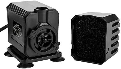 Yosoo- Bomba de Filtro, Tanque de Peces de Acuario Bomba de Filtro Sumergible Fuente Multifuncional 8