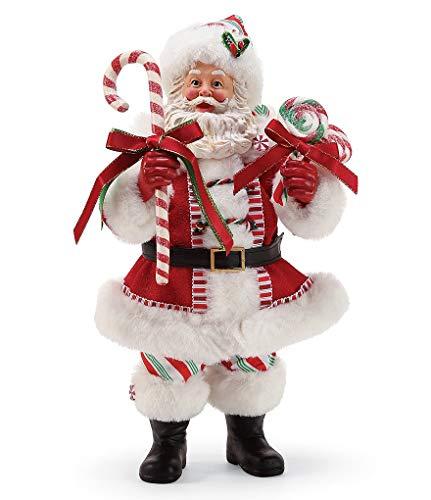 (Possible Dreams Peppermint Santa Figurine - 6002934D)