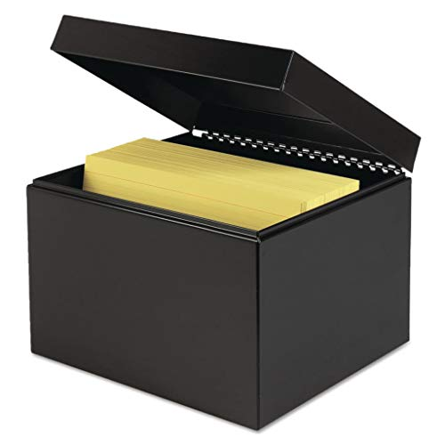 MMF263869BLA - Description : Card File Box with Hinged Lid - STEELMASTER by MMF Industries Index Card File - Each - Mmf Index Cards