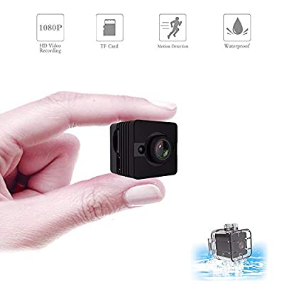 GZDL Portable Small Mini Camera Waterproof - Covert Spy Hidden Camera HD 1080P - Motion Detection Night Vision Cam - Sport Outdoor Camera for Surfing Snorkeling Cycling Drone