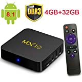 2018 Newest 4G 32G Android 8.1 TV Box MX10 Android 8.1 Android Media