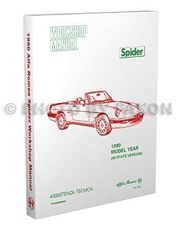 1990 alfa romeo spider repair shop manual graduate veloce rh amazon com alfa romeo spider 916 manual alfa romeo spider manual free download