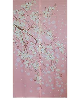 Romantic Oriental Cherry Japanese Noren Doorway Curtain Winter Door Decor  YangFan