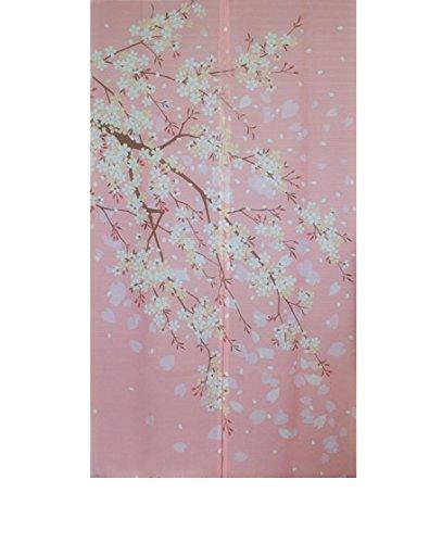 Romantic Oriental Cherry Japanese Noren Doorway Curtain winter door decor YangFan by Yangfan