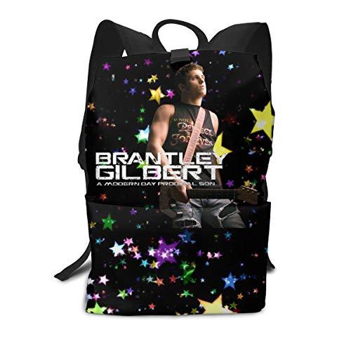 SuraphonSuphunthuchatz Unisex Adult Mens Outdoor Durable,Convenient Brantley Gilbert Music Band Fans Full Size Print Backpack - Brantley Print