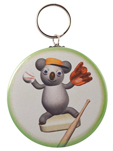 Price comparison product image Funny Koala Baseball Player Two-Side Keychain + Magnet